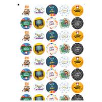 Label Sticker BACK TO SCHOOL stiker segel - Bahan Chromo