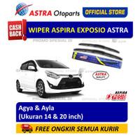 Wiper Blade Hybrid Graphite ASPIRA EXPOSIO: Toyota Agya, Daihatsu Ayla