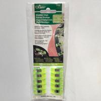 Alat Jahit Clover 3180 Wonder Clips Neon Green (10pcs)