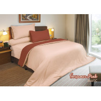 Rise Sprei Set Bed Cover Polos brown / peach Micro Fiber 350TC - Gossamer Pink, 100x200