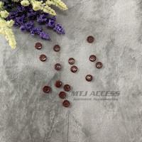 Kancing 144 pcs Baju Kemeja Koko Ukuran 14 ( 0,9 cm) Merah Maroon C 17