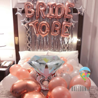 SET Foil Balloon Bride To Be / Dekorasi Balon Bridal Shower Rose Gold