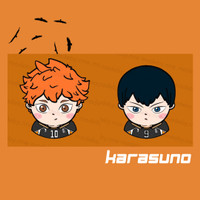 Haikyuu popsocket acrylic - Karasuno Edition