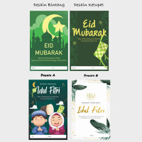 Kartu Ucapan Greeting Card Lebaran Happy Eid Mubarak Idul Fitri Gift