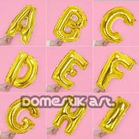 Balon foil huruf GOLD / Balon huruf dan angka / balon nama / balon A-Z