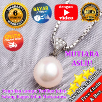 Kalung Perak Emas Putih dan Mutiara ASLI - WGP 117 (Garansi 6 bulan) F - Bandul Saja