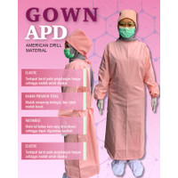 MEDICAL GOWN APD BAHAN AMERICAN DRILL - Pink Salem