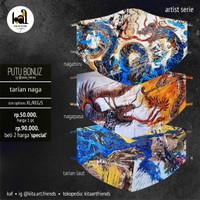Art Mask 2ply - Putu Bonuz Sudiana - Tarian Naga