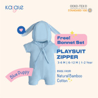 Playsuit Bonnet Set (Romper / Jumper Anak dan Bayi) - Kalale - Blue