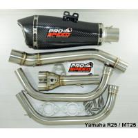 Knalpot Prospeed SS Predator Steinless Yamaha R25 / MT25 Fullsystem