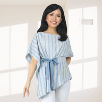 Batik Kultur Tops - RBB - Arctic Blue White Handmade Lurik