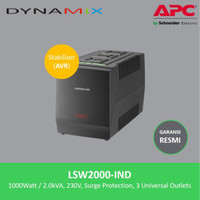 APC LSW2000-IND 2000VA AVR / Stabilizer / Stavol + Surge Protector