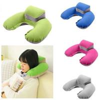 Bantal Leher Tiup + Penyangga Kepala / Pillow Inflatable Neck
