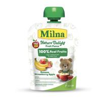Milna Nature Delight Fruit Puree 80g / Sari buah makanan bayi buah asl - Apel Peach