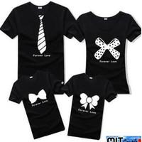 Baju Family Couple Kaos Pasangan Keluarga 2 anak Dasi Pita 11094