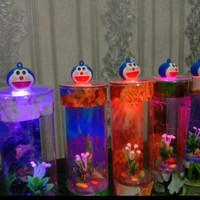 Aquarium Mini Tabung LED Ikan Cupang