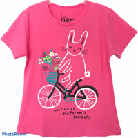 Baju Anak Perempuan Kucing Sepedah - 1 thn