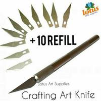 Crafting Art Knife + 10 refill / Pisau Seni Ukir Prakarya