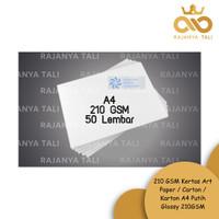 210 GSM Kertas Art Paper / Carton / Karton A4 Putih Glossy 210GSM
