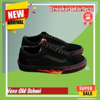Sepatu Vans Old Skool Flame Wall Skateboard Kasual Terbaru Import