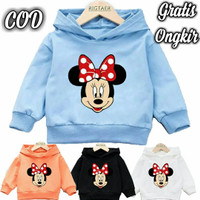 sweater hoodie anak perempuan Mini Mouse Baju Anak Pakaian Anak
