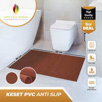 Keset Karpet Karet Anti Slip Kamar Mandi 40 x 60 - Cokelat