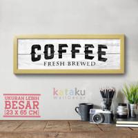 Hiasan Dinding Rustic Coffee Bar Sign Farmhouse Wall Decor Poster