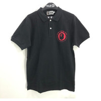 Bape Lettered Polo Shirt Black 100% Original