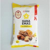 tepung terigu hana emas 1kg bungasari flour protein rendah kunci