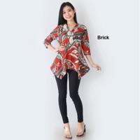 Blouse Wanita Batik Modern Baju Atasan Blus Murah Cewek Terbaru Cewe