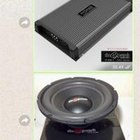 Paket Hemat Audio Power 4ch + Subwofer Double coil High Quality