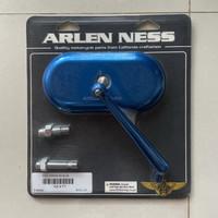 Spion, Arlen Ness Mini Forged Oval Mirror Blue (New)