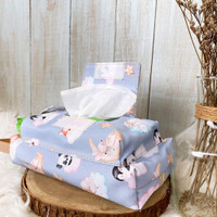 Tissue Pouch 3 in 1 Tempat Tissue Basah Kering - Forget Me Not