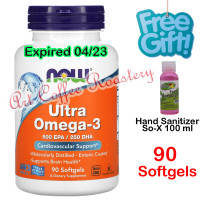 Ultra Omega-3, Now Foods ( USA PRODUCT ) 90 Softgels