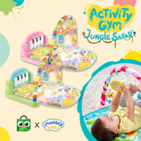 IMUNDEX Baby musical Playgym Activity Gym PIano Playmat 6-in-1