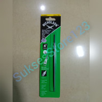 Nicholson Kikir Segitiga Slim Taper 4 (100 mm) Asah Gergaji ORIGINAL