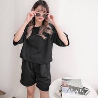 Valen Set - Baju Setelan Wanita/ Fashion Wanita / Set Wanit - Hitam