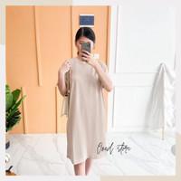 Dress Katun Polos Wanita Cotton Combed