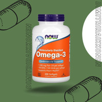 Now Foods Molecularly Distilled Omega-3 200 Softgels