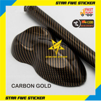 Sticker Skotlet Karbon Warna Gold