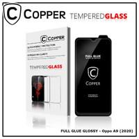 Oppo A9 (2020) - COPPER Tempered Glass Full Glue PREMIUM Glossy