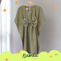 Nabila Kaftan Dress Anak by Ichigo Baju Lebaran Akikah Pesta Mewah Nya - LEAF, 1