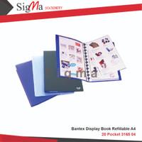 BANTEX DISPLAY BOOK REFILLABLE A4 20 POCKET 3165 04