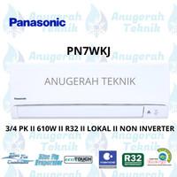AC SPLIT PANASONIC 3/4 PK 3/4 PK R32 STANDAR NON INVERTER - PN7WKJ