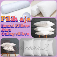 Bantal Tidur Hotel 100% Silikon Grade A motif polos embos - Guling