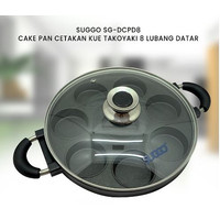 SUGGO 8 LUBANG DATAR CAKE PAN CETAKAN KUE TAKOYAKI SG-DCPD8