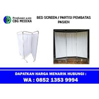 BED SCREEN 3 BIDANG / PEMBATAS RUANGAN PASIEN BAHAN STAINLESS STEEL #8