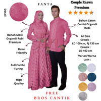 Femme Ols - Couple Raswa / Baju Gamis Wanita / Kemeja Koko Pria