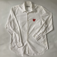 Comme De Garcons CDG Play White Shirt Original 100%