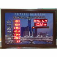Jam Dinding Digital Sholat 5 Waktu 50 x 70 cm